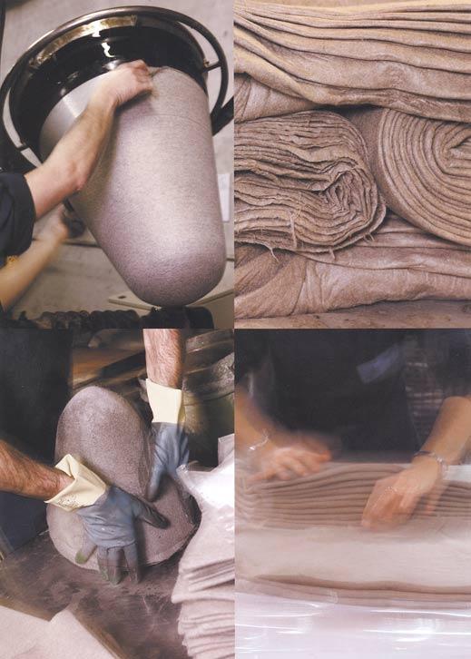 Herstellung von Hutstumpen - Grundmaterial für jeden Hut